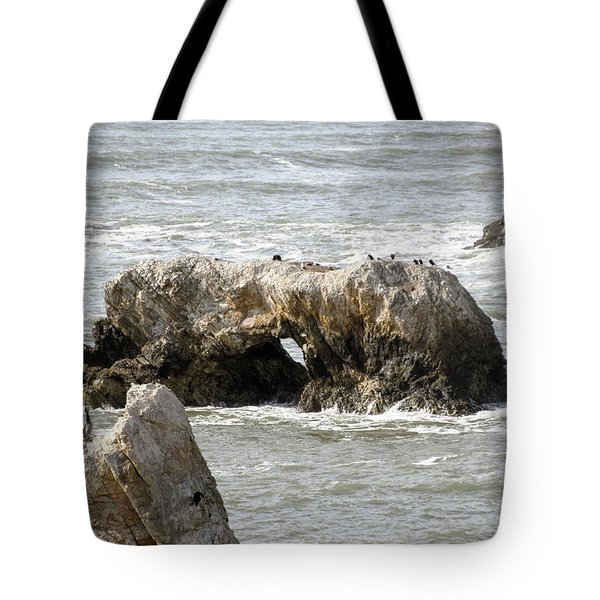 Tote Bag featuring the photograph Grey Water At Window Rock by Barbara Snyder