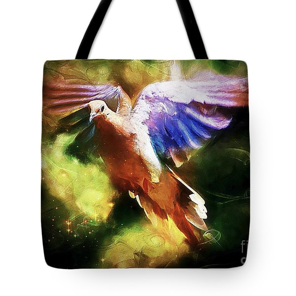 Guardian Angel Tote Bag by Tina  LeCour