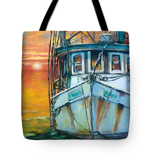 Tote Bag featuring the painting Gulf Coast Shrimper by Dianne Parks