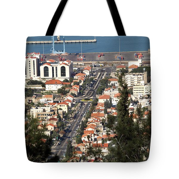 Tote Bag featuring the photograph Haifa - The German Colony by Arik Baltinester