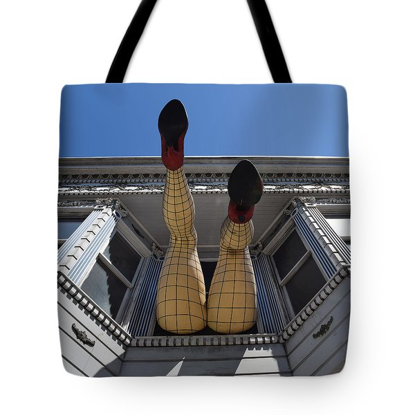 Tote Bag featuring the photograph Haight And Ashbury Legs by Dany Lison