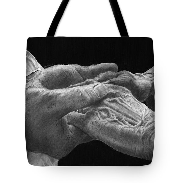 Hands Of Love Tote Bag by Jyvonne Inman