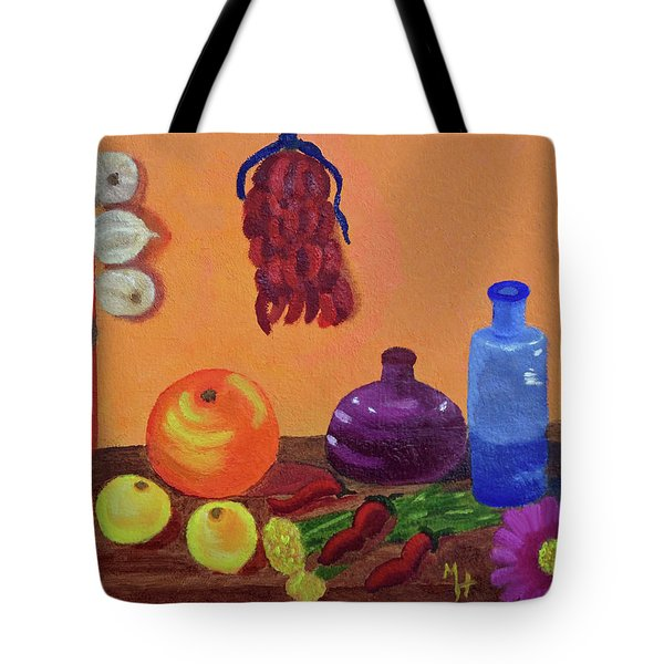 Hanging Around With Spices Tote Bag by Margaret Harmon