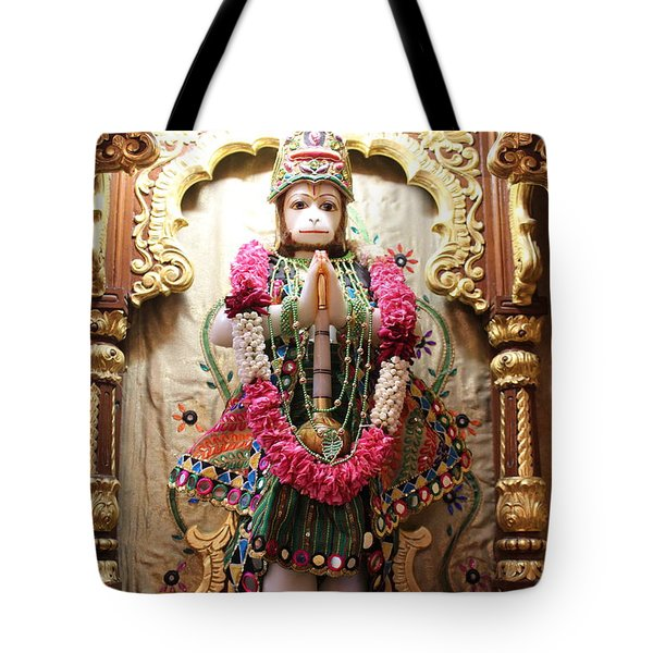 Hanuman Ji, Radha Gopinath Mandir, Mumbai Tote Bag by Jennifer Mazzucco