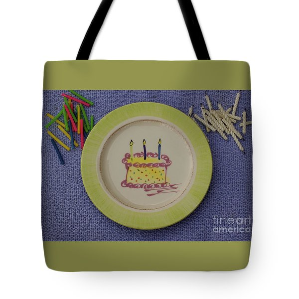 Happy Birthday Tote Bag by Sandy Molinaro