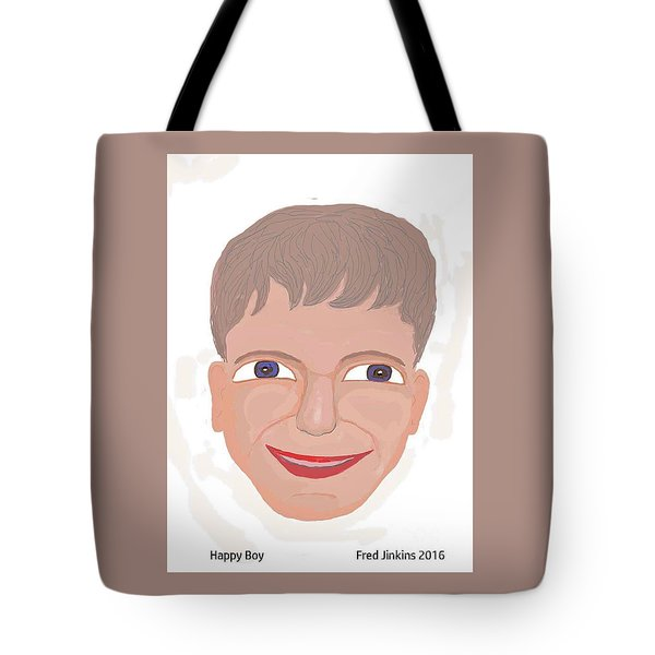 Happy Boy Tote Bag by Fred Jinkins