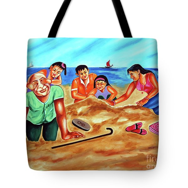 Happy Family Tote Bag by Ragunath Venkatraman