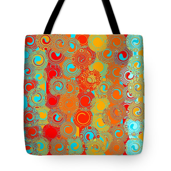 Happy Swirls Tote Bag