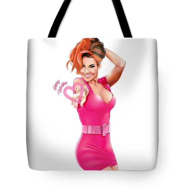 Tote Bag featuring the digital art Happy Valentine by Brian Gibbs