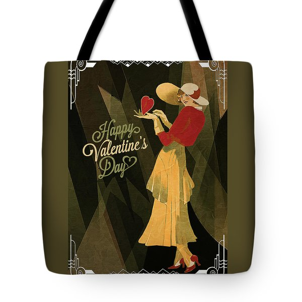 Tote Bag featuring the digital art Happy Valentines Day by Jeff Burgess