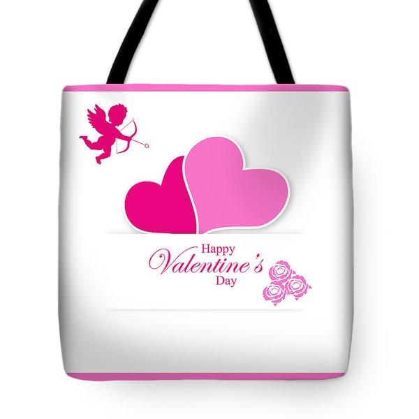 Happy Valentine's Day Tote Bag by Serena King