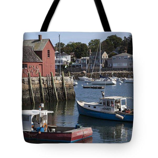 Harbor Boats Tote Bag