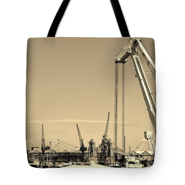 Tote Bag featuring the photograph Harbor Impression by Werner Lehmann