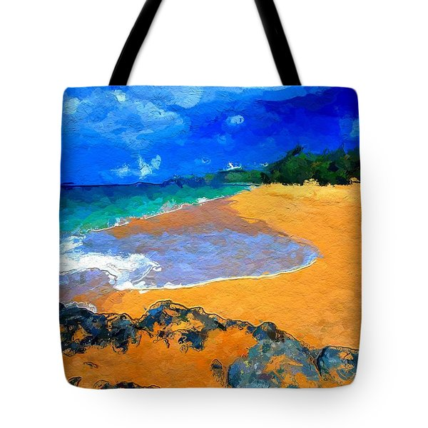 Tote Bag featuring the digital art Hawaiian Island by Anthony Fishburne