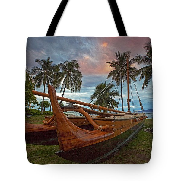 Hawaiian Sailing Canoe Tote Bag