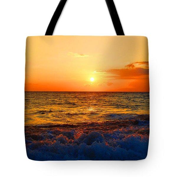 Hawaiian Sunset Tote Bag by Michael Rucker