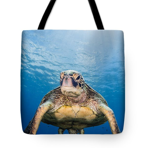 Hawaiian Turtle Tote Bag