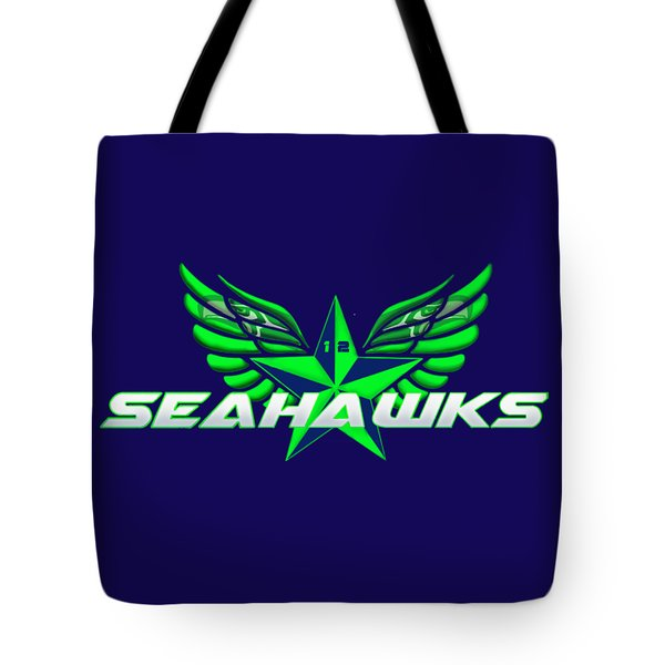 Hawks Wings Tote Bag