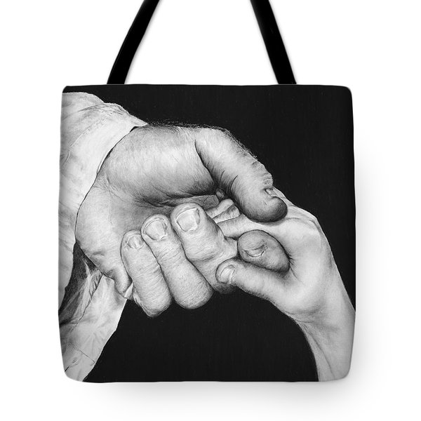 He Leadeth Me Tote Bag by Jyvonne Inman