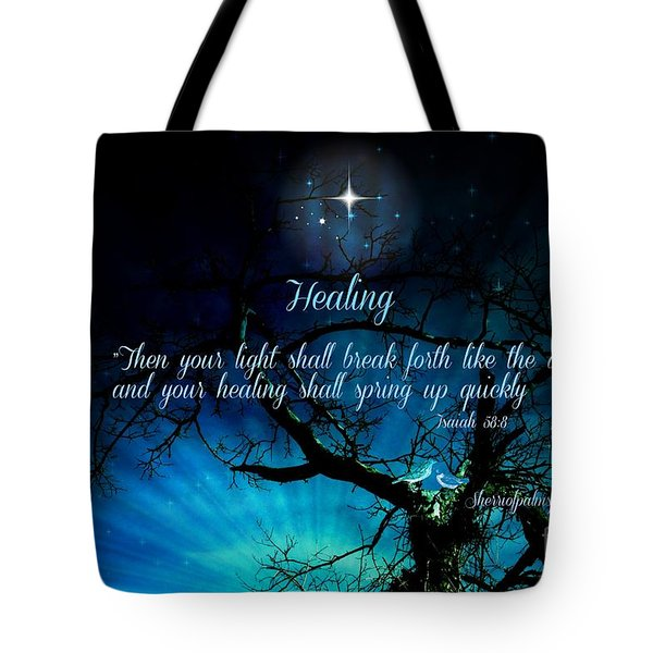 Tote Bag featuring the digital art Healing Art By Sherri Of Palm Springs by Sherri  Of Palm Springs