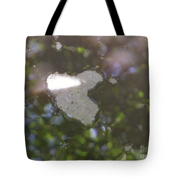 Tote Bag featuring the photograph heART bubbles by Nora Boghossian
