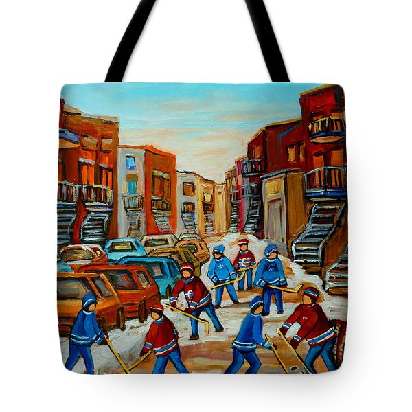 Heat Of The Game Tote Bag by Carole Spandau