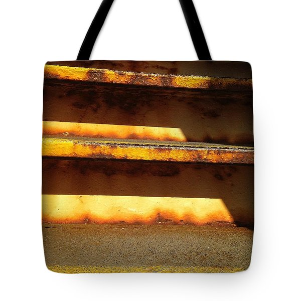 Tote Bag featuring the photograph Heavy Metal by Olivier Calas