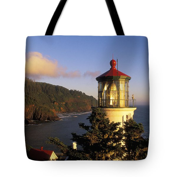 Heceta Head Lighthouse Tote Bag by Greg Vaughn - Printscapes