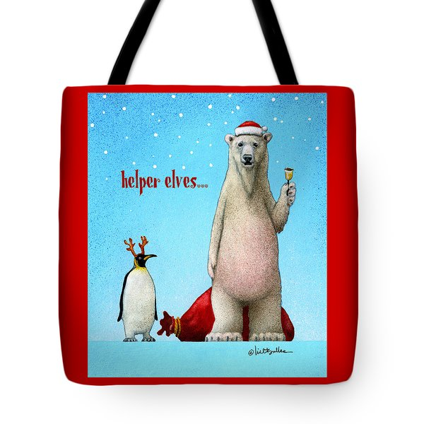 Tote Bag featuring the painting Helper Elves... by Will Bullas