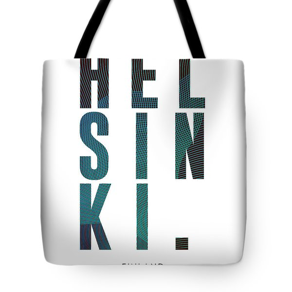 Helsinki, Finland - City Name Typography - Minimalist City Posters Tote Bag