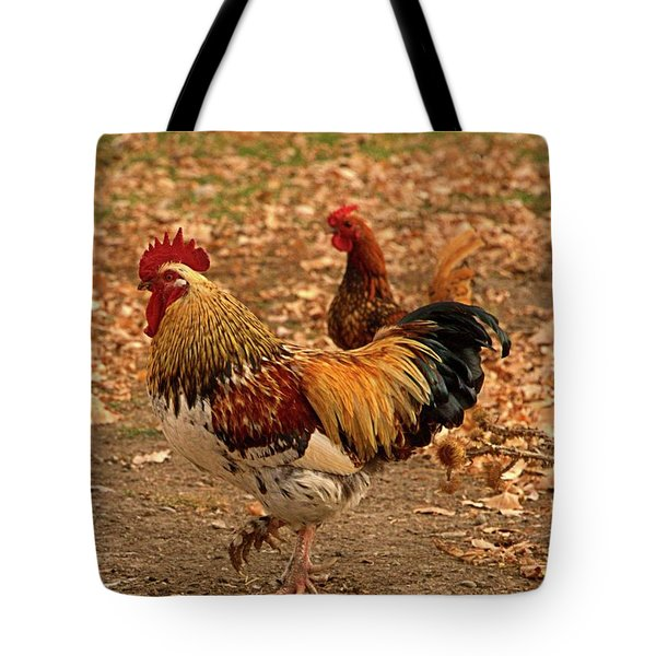 High-stepping Rooster Tote Bag