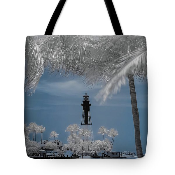Tote Bag featuring the photograph Hillsboro Inlet Lighthouse by Louis Ferreira
