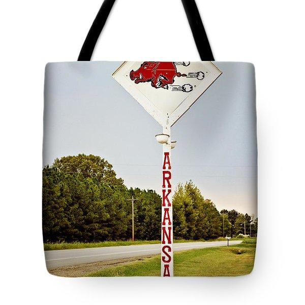 Hog Sign Tote Bag by Scott Pellegrin