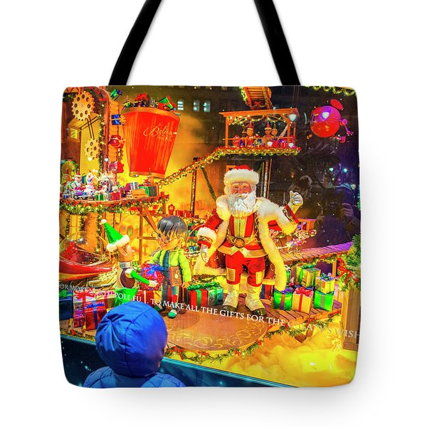 Holiday Widow Display In New York Tote Bag