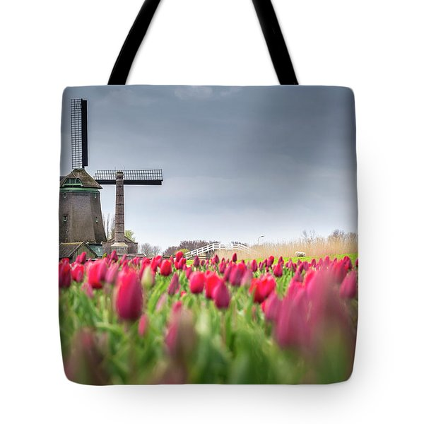 Holland Windmill Tote Bag