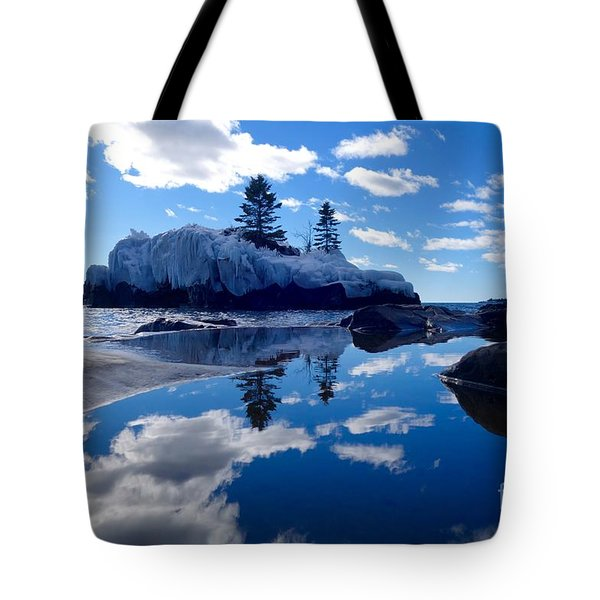 Hollow Rock Reflections Tote Bag