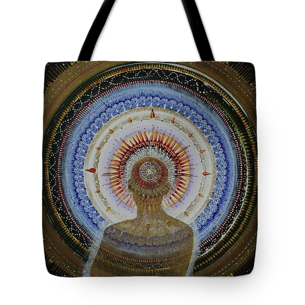 Tote Bag featuring the painting Holy Moly #10 by Kym Nicolas