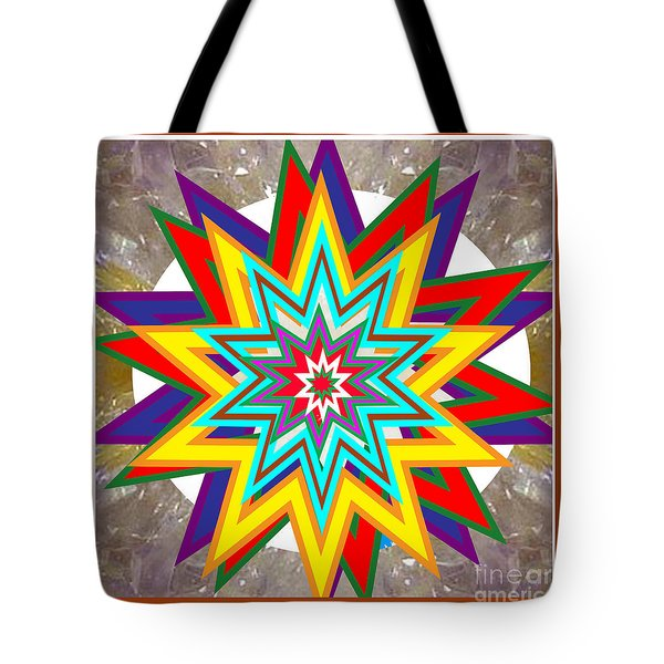 Holy Star White Purple Blue On Crystal Stone Marble Unique Shades Tones Textures Buy Wall Decoration Tote Bag