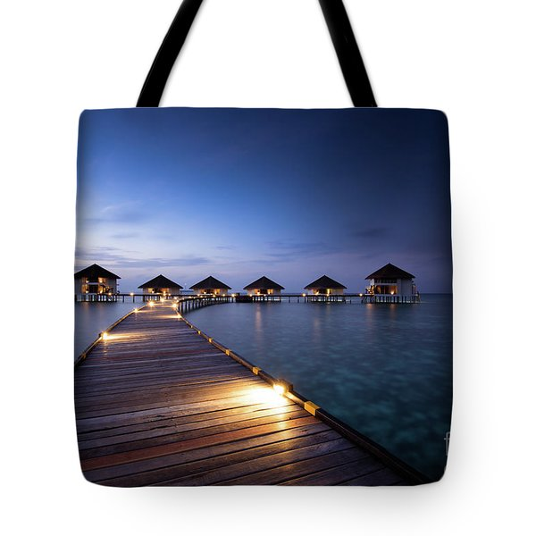 Tote Bag featuring the photograph Honeymooners Paradise by Hannes Cmarits