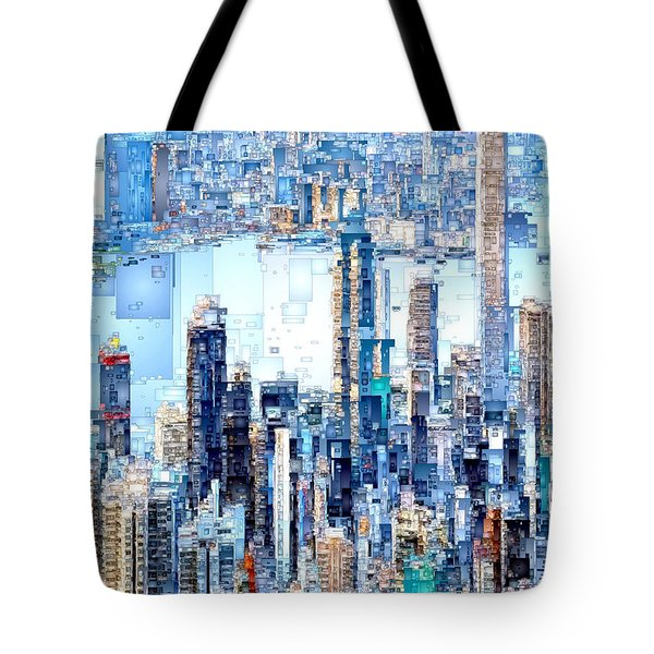 Hong Kong Skyline Tote Bag