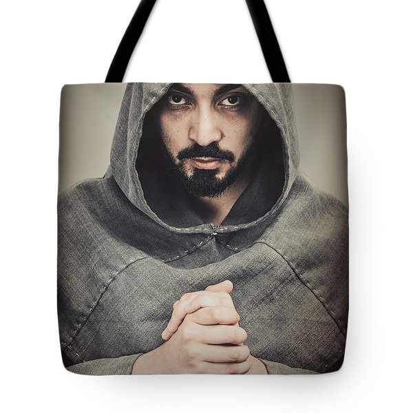 Hooded Viking Warrior Tote Bag