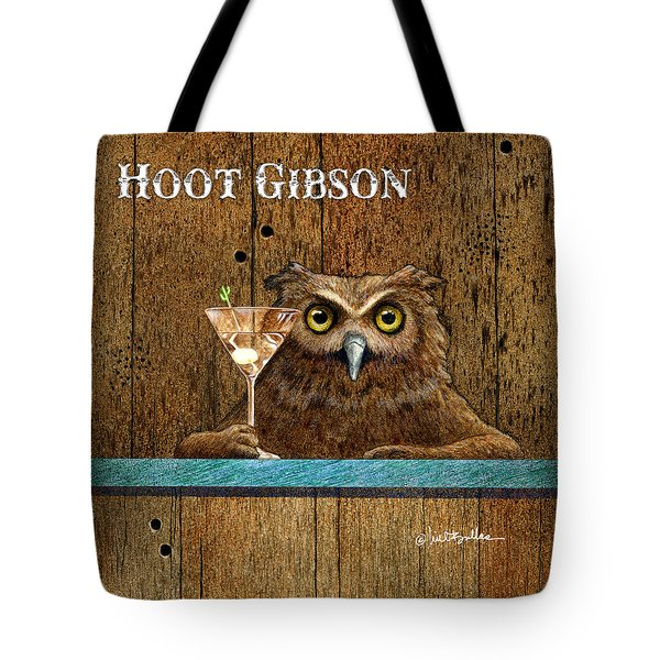 Tote Bag featuring the painting Hoot Gibson... by Will Bullas