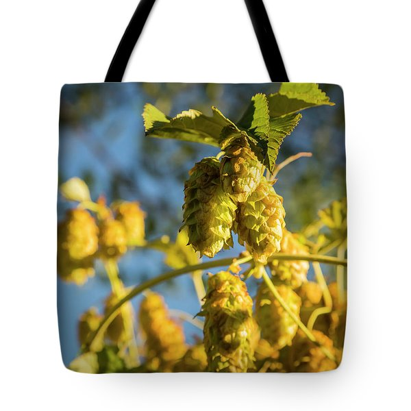 Tote Bag featuring the photograph Hops by Mark Mille