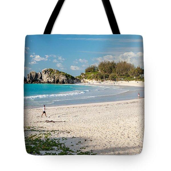 Horseshoe Bay In Bermuda Tote Bag