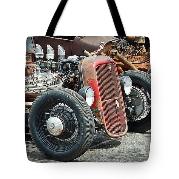 Hot Rods Tote Bag by Steve McKinzie