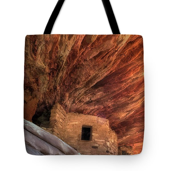 House On Fire Ruins Tote Bag by Gary Warnimont