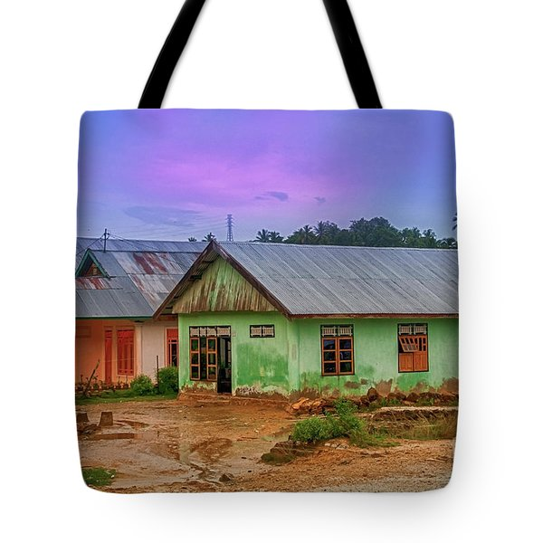Tote Bag featuring the photograph Houses by Charuhas Images