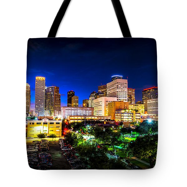Tote Bag featuring the photograph Houston City Lights by David Morefield