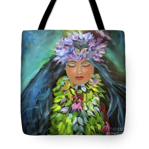 Hula Maiden Tote Bag