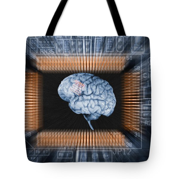 Human Brain And Communication Tote Bag